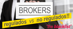 Lista de brokers regulados y no regulados